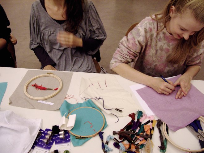 The Embroidered Digital Commons, event by Ele Carpenter, VBKÖ, Vienna, 2011