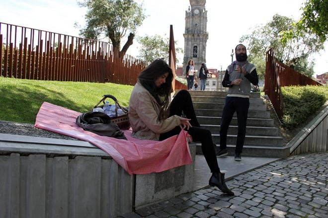 Inauguration of the missing of the plaque, Praça do Anjo, Porto, 2015