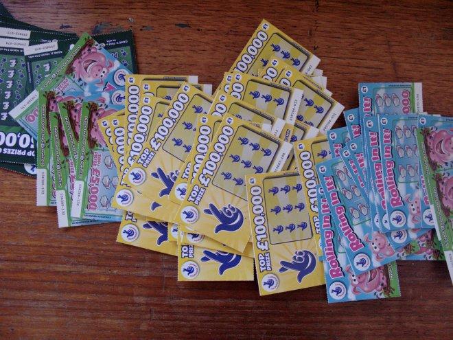 105 GBP in Scratch Cards