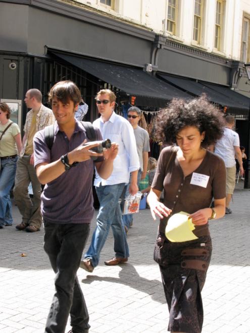 26/07/08 College Green Surveillance Tour, photo by Sovay Berriman